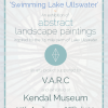 'Swimming Lake Ullswater' An exhibition of abstract landscape paintings inspired by the 7.5 mile swim of the lake