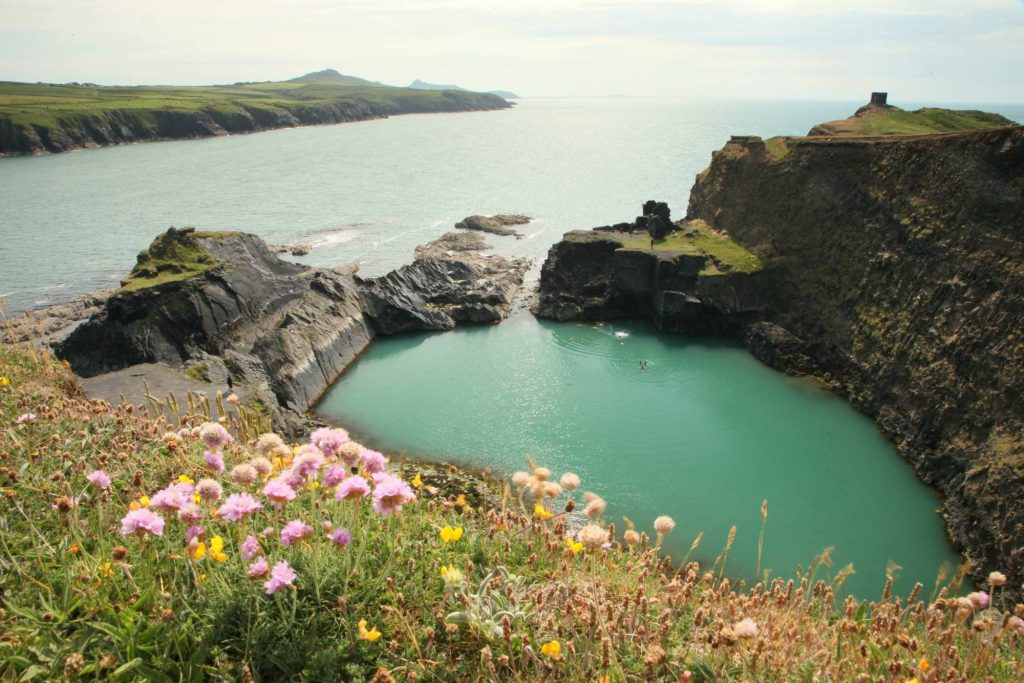 wild swimming blue lagoon abereiddy