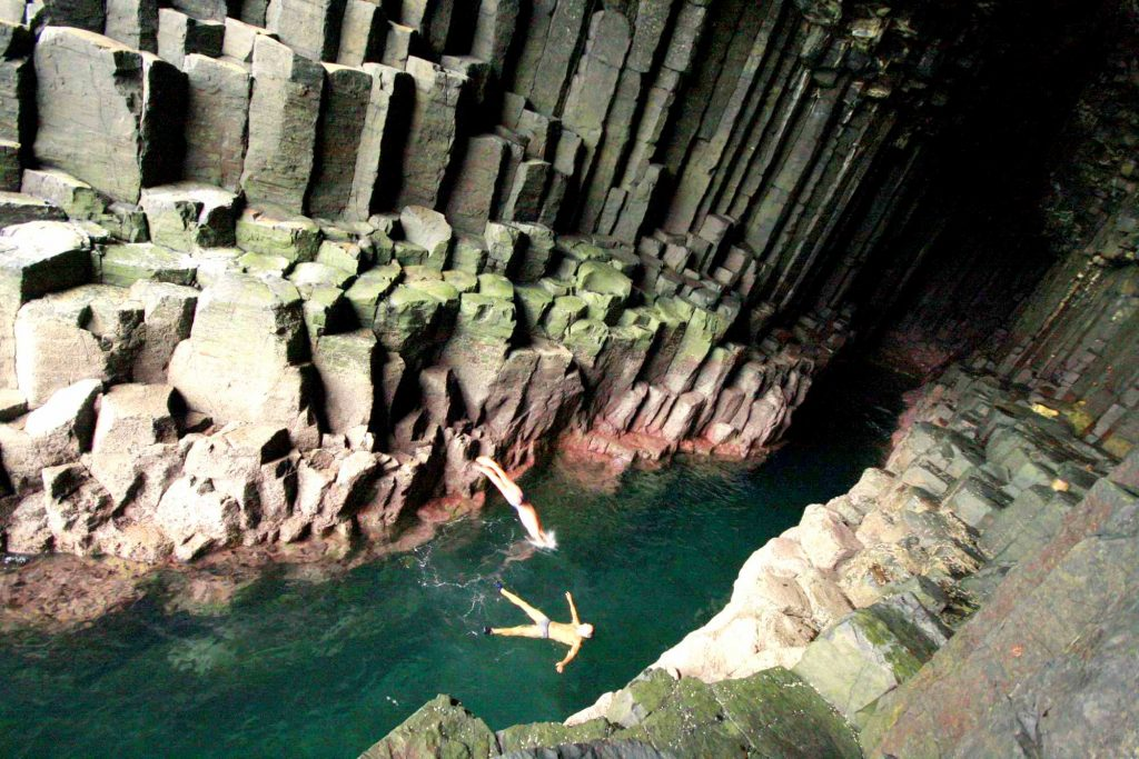 wild swimming fingal's cave scotland